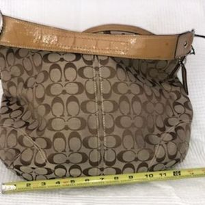 Tan Hobo Coach Bag